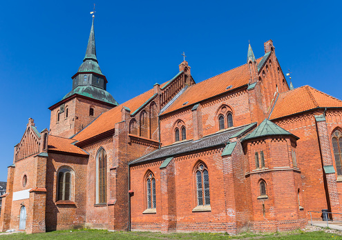 Historic St. Marien church in the center of Boizenburg