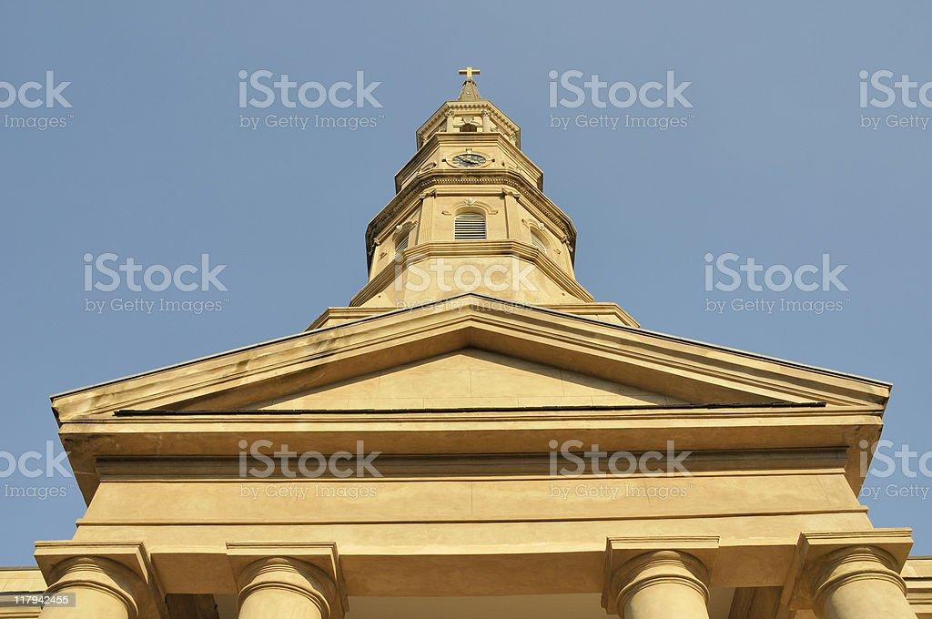 Historic St Philips Episcopal, Charleston stock photo