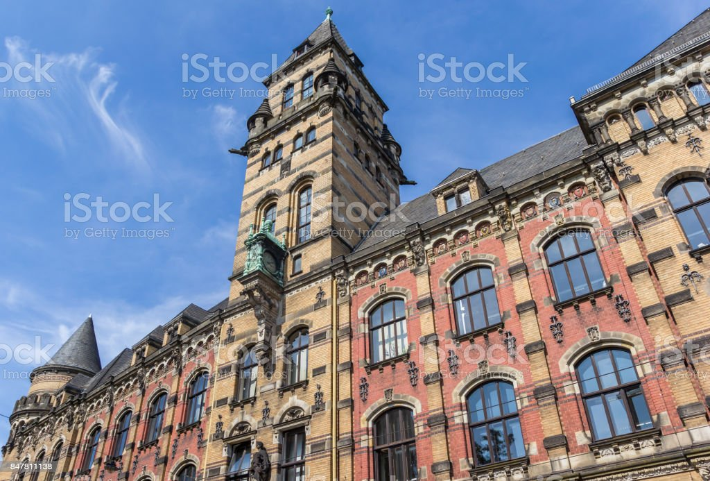 Historic Staatsanwalt building in the center of Bremen, Germany stock photo