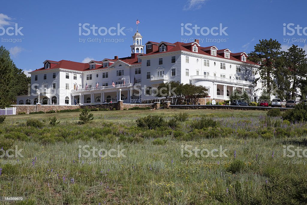 Historic Stanley Hotel, Estes Park, Colorado stock photo