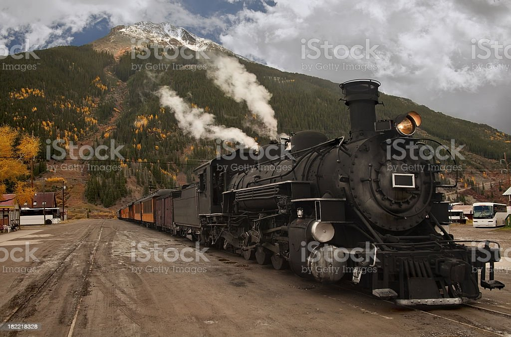 Historic Steam Locomotive stock photo