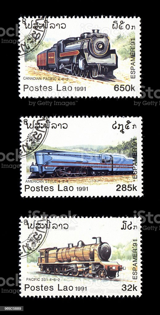 Historic Steam Railroad Engines Lao royalty-free stock photo