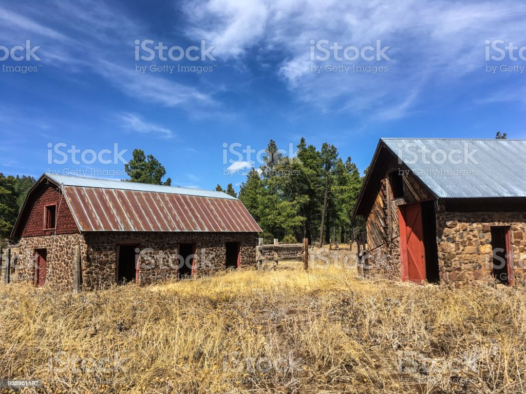 Historic Stone Barn stock photo