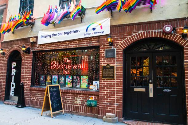 Historic Stonewall Inn stock photo