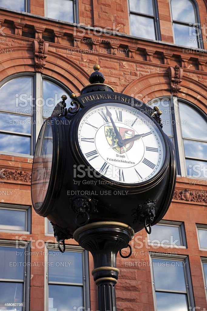 Historic street clock in Peoria stock photo