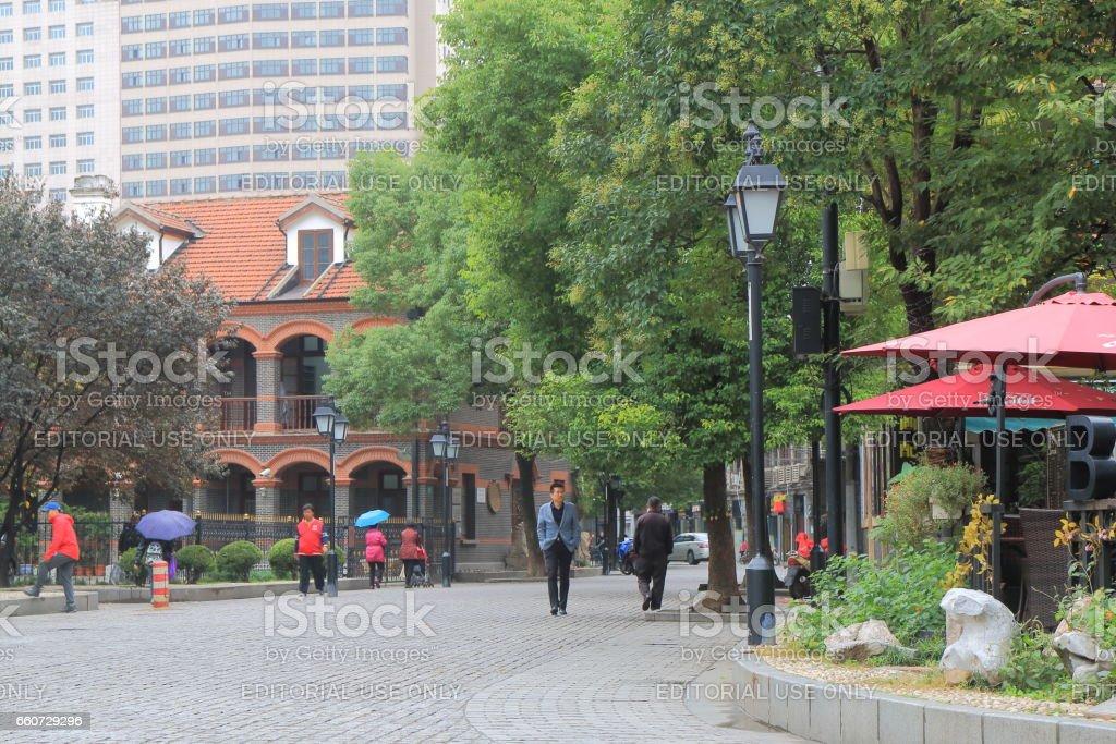 historic street in Hongkou District Shanghai China stock photo