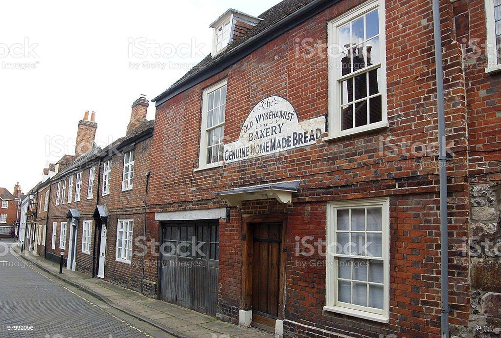 Historic street, Winchester royalty-free stock photo