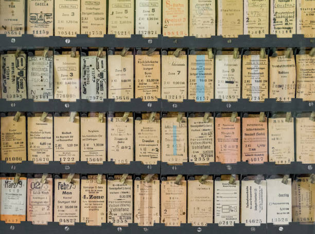 historic tickets lots of historic german train tickets train ticket stock pictures, royalty-free photos & images