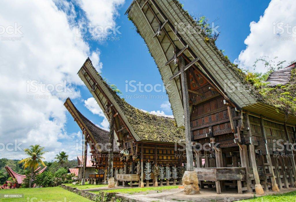 Historischen Tongkonan Häuser die Toraja, Sulawesi, Indonesien – Foto