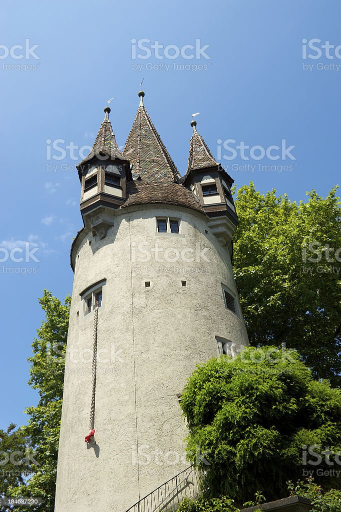 Historic tower in Lindau, Germany stock photo