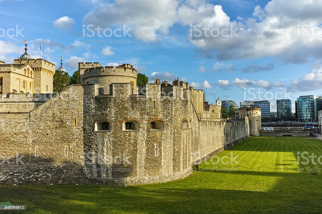 Historic Tower of London, England stock photo