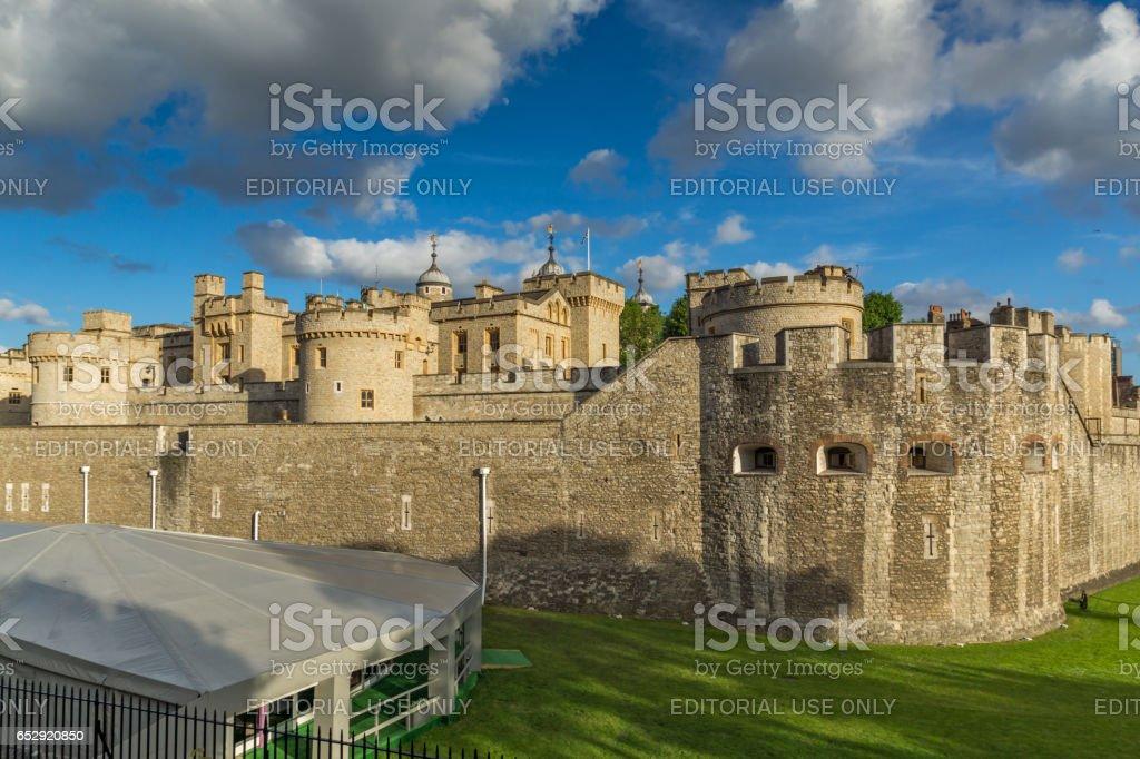 LONDON, ENGLAND - JUNE 15 2016: Historic Tower of London, England stock photo
