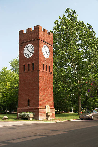 Historic Town Clock Historic Town Clock.  Hudson, Ohio. hudson river stock pictures, royalty-free photos & images