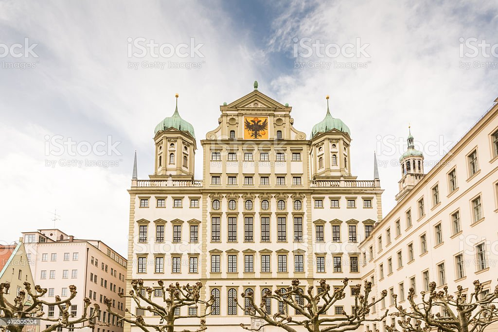 Historic town hall of Augsburg stock photo