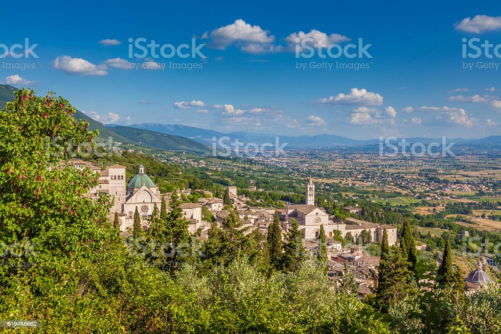 Historic town of Assisi, Umbria, Italy stock photo