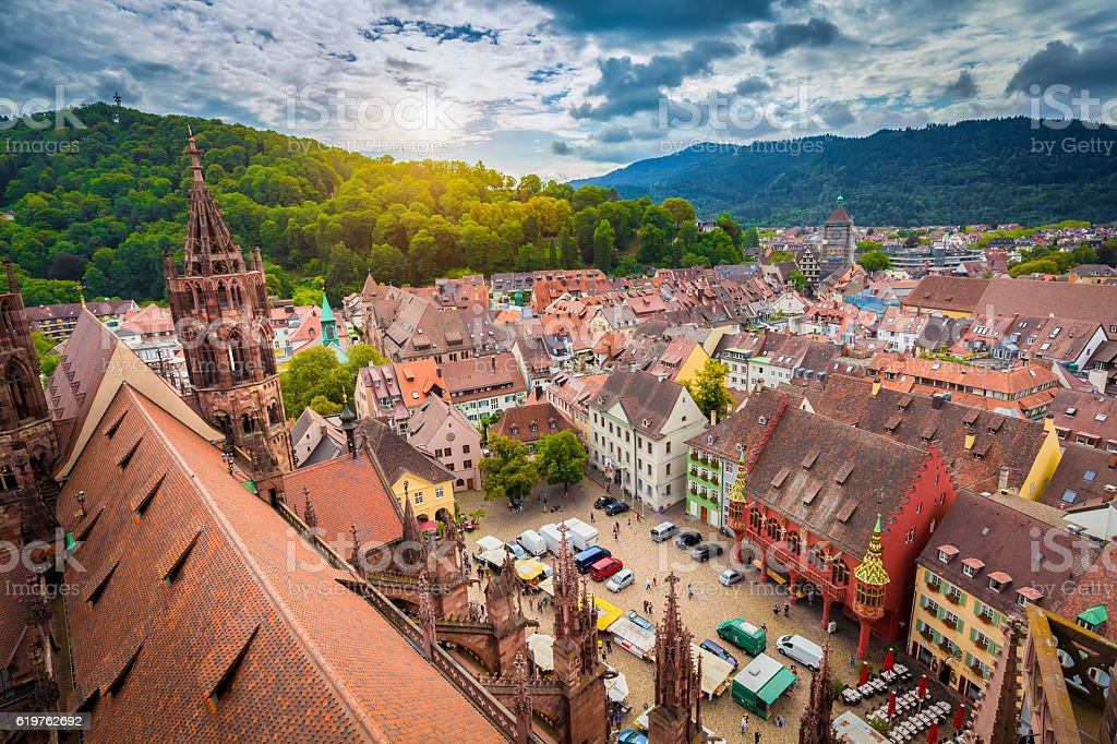 Historic town of Freiburg im Breisgau, Baden-Wurttemberg, Germany stock photo