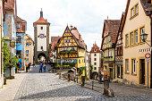 istock Historic town of Rothenburg ob der Tauber, Franconia, Bavaria, Germany 1030563914