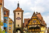 istock Historic town of Rothenburg ob der Tauber, Franconia, Bavaria, Germany 1059242296