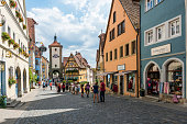 istock Historic town of Rothenburg ob der Tauber, Franconia, Bavaria, Germany 1076040546