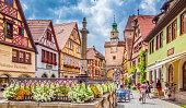 istock Historic town of Rothenburg ob der Tauber, Franconia, Bavaria, Germany 1090585380