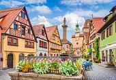 istock Historic town of Rothenburg ob der Tauber, Franconia, Bavaria, Germany 677595516