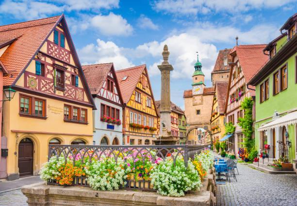 Altstadt von Rothenburg ob der Tauber, Franken, Bayern, Deutschland – Foto