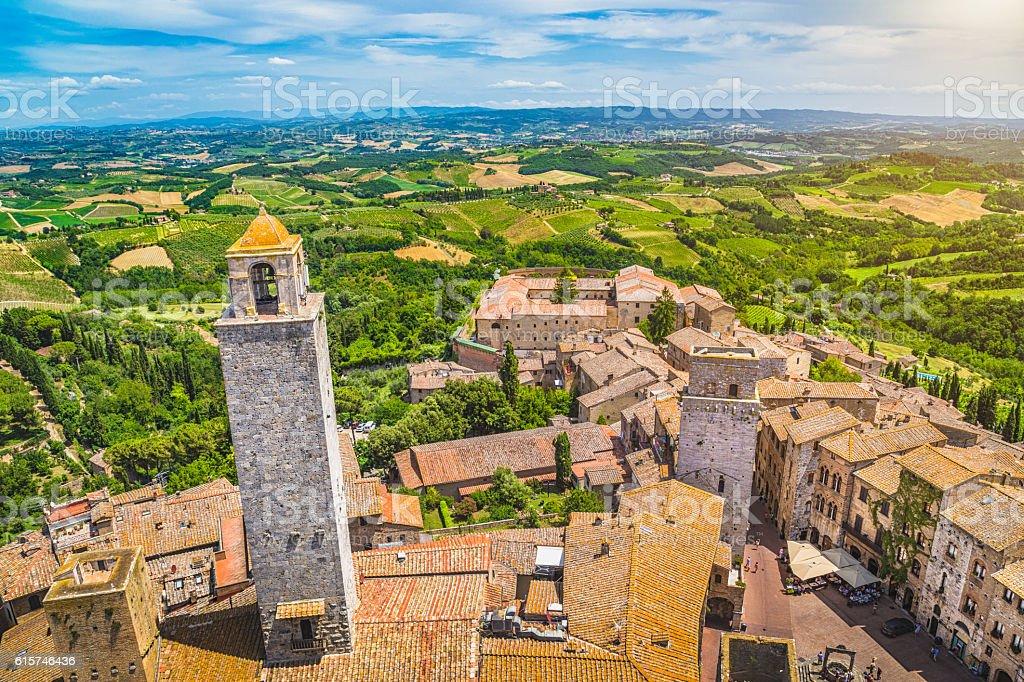 Historic town of San Gimignano, Tuscany, Italy stock photo