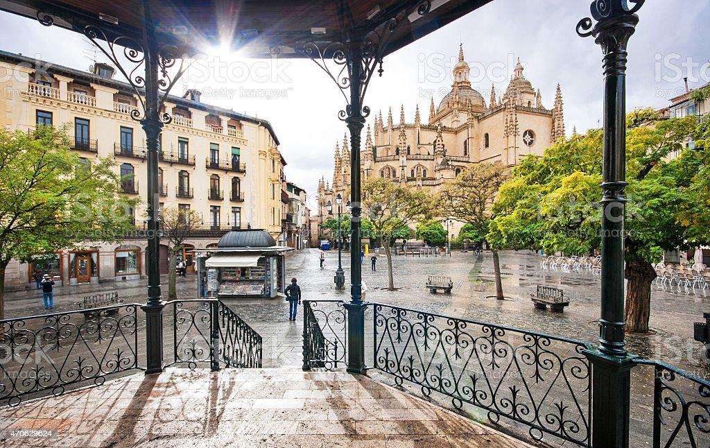 Historic town of Segovia, Castilla y Leon, Spain stock photo