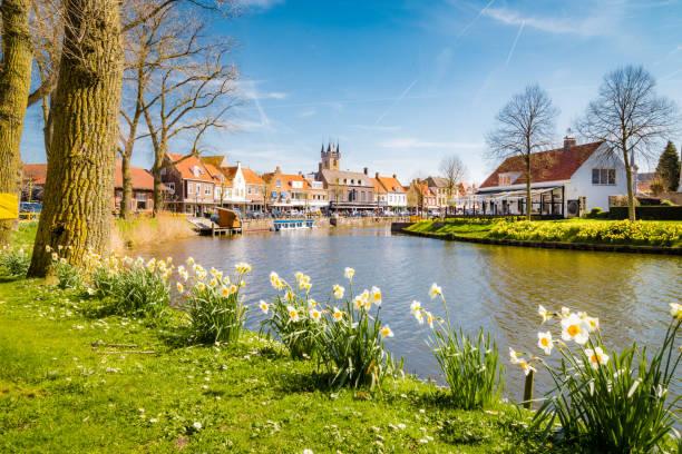 Historische Stadt Sluis, Zeelandische Region Flandern, Niederlande – Foto