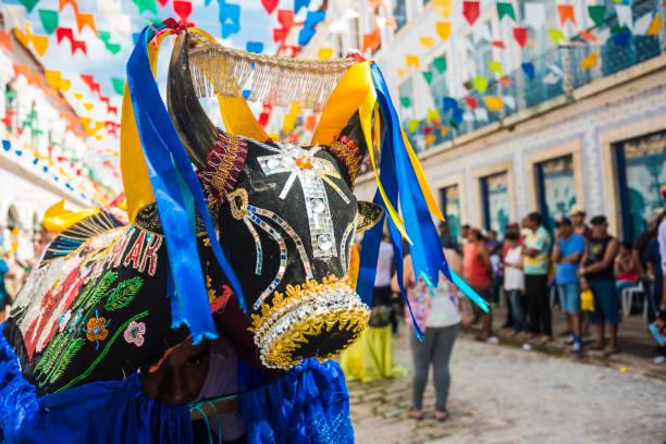 historic town sao luis is preparing for the traditional holiday of bulls, maranhao state, brazil - tradição imagens e fotografias de stock