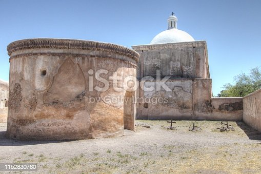 The historic Tumacacori Mission in Arizona is the centerpiece of the Tumacacori National Park near Nogales Arizona. This is a historical structure on national parklands and open to the public it is not a privately owned residence, property or business.