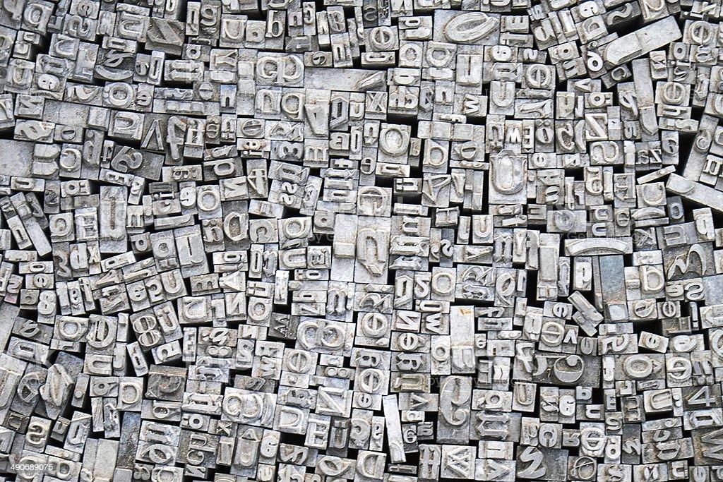 Historische Typografie Buchstaben - Lizenzfrei Alphabet Stock-Foto