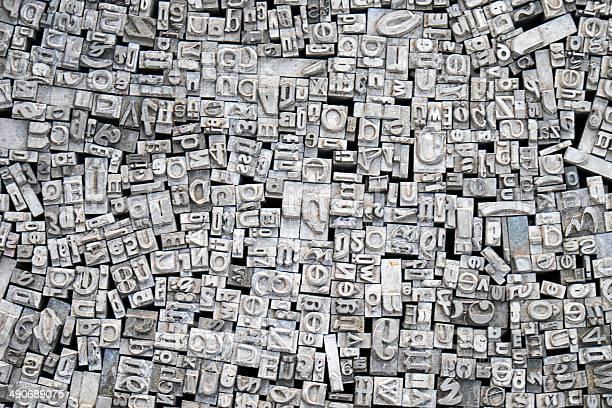 Historische Typografie Buchstaben Stockfoto und mehr Bilder von Alphabet