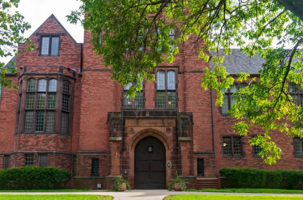 Historic University Building in Milwaukee stock photo