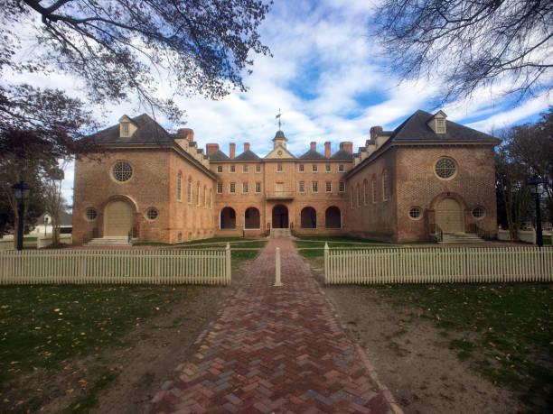 Historic university in Williamsburg, Virginia stock photo