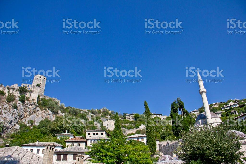 Historic urban site of Pocitelj stock photo