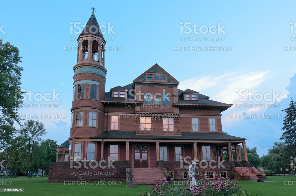 Historic Victorian Mansion in Superior stock photo