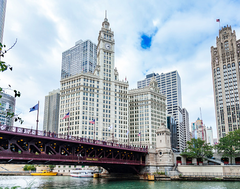 Historic Views of Chicago must include the Michigan Avenue Bridge - recently renamed the DuSable Bridge - and the iconic architecture that surrounds it.