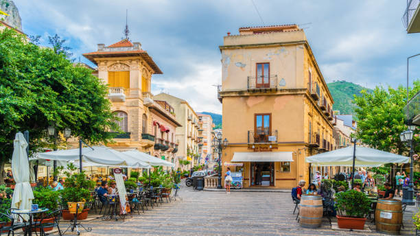 Historic village of Cefalu - foto stock