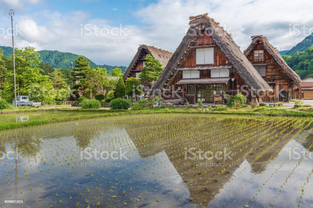 Historischen Dorf von Shirakawa-Go in Japan – Foto