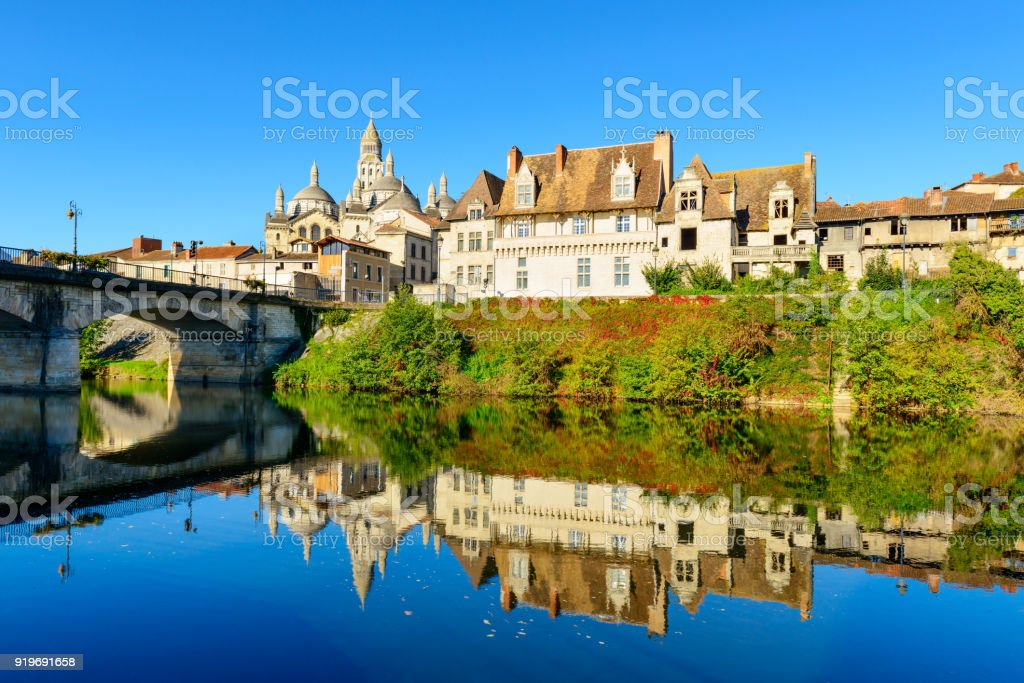 Historic village Perigueux, France stock photo