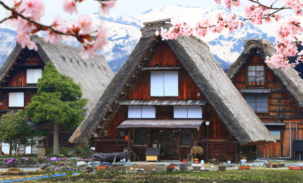 Historic Villages of Shirakawago, Japan stock photo