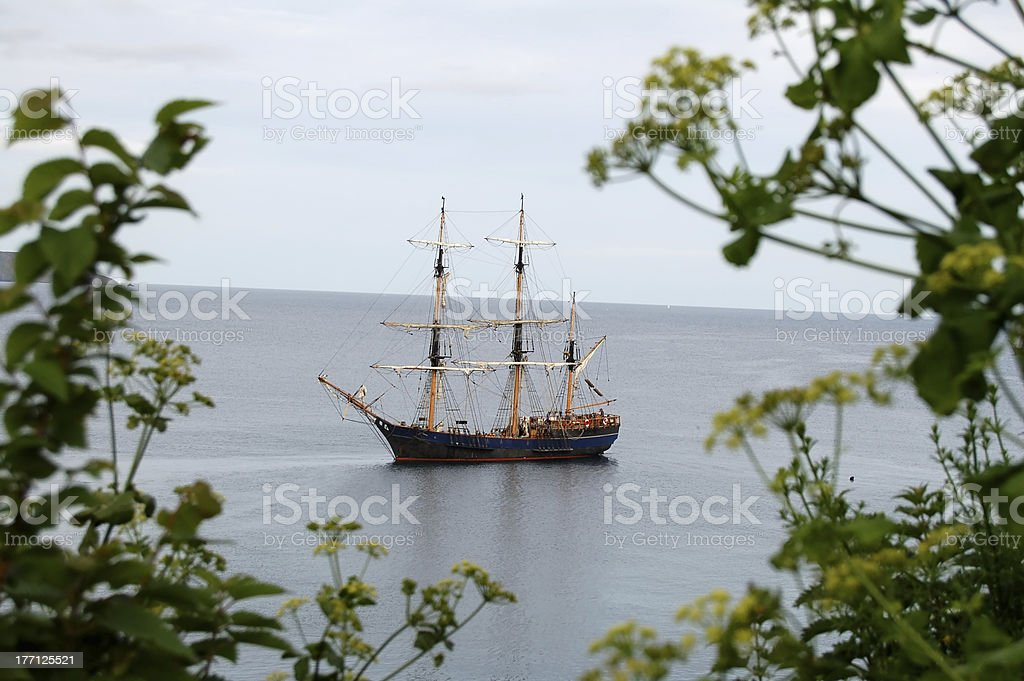 Historic War Ship stock photo