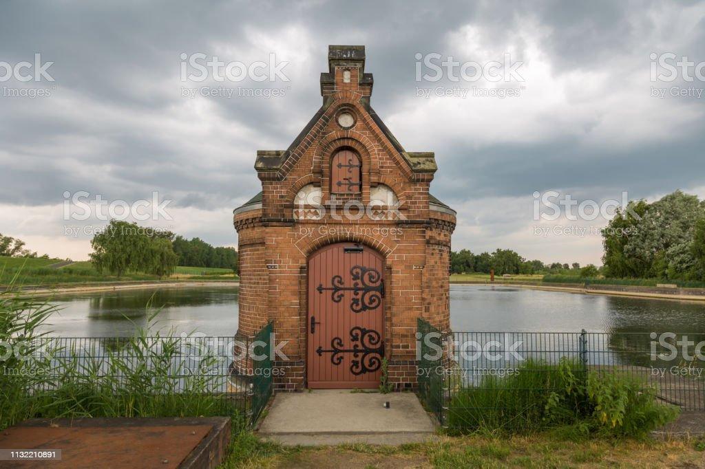 Waterstation in former times in Hamburg, Germany