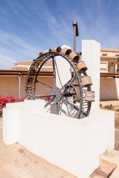 historic water mill in spain - cartagena museum stock photos and pictures
