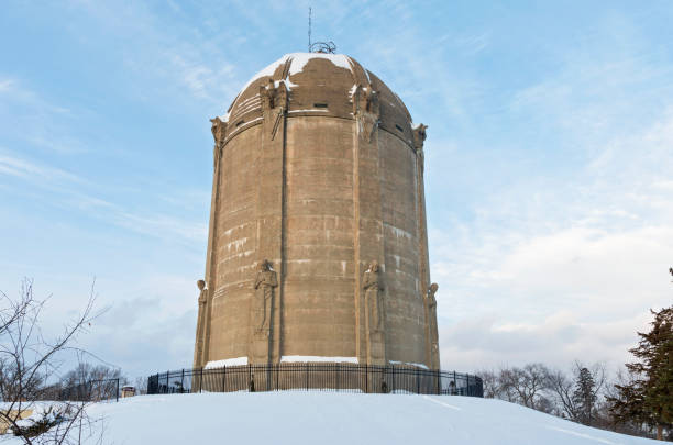 Historic Water Tower in Tangletown stock photo