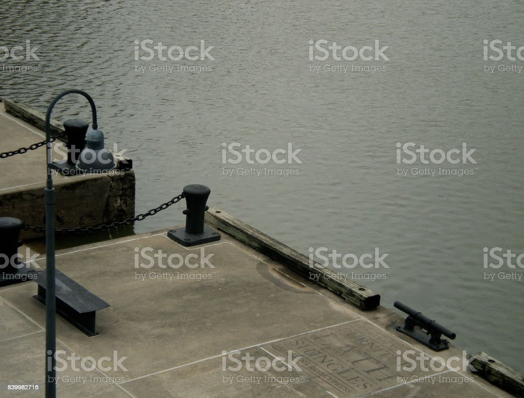 Historic Wharf in Downtown Houston's Waterfront Park stock photo
