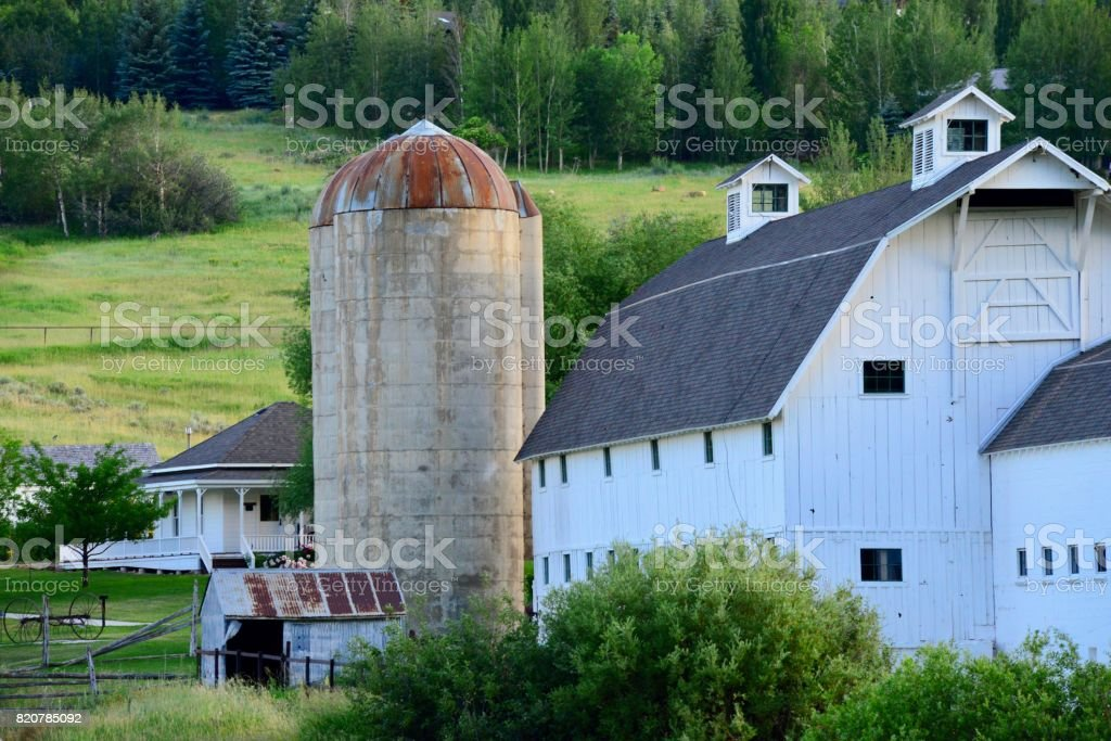 Historic White Barn, Park City stock photo