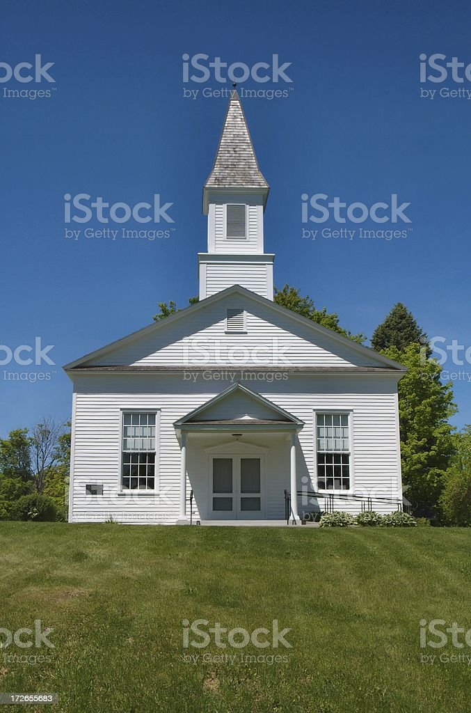 Historic White Church stock photo