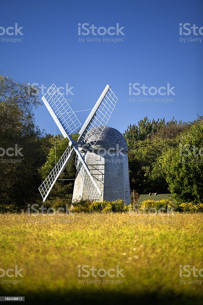 Historic windmill stock photo